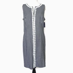 Crown & Ivy Streets of Charleston Navy/White Dress